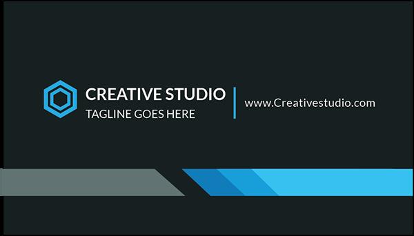 modern minimalist business card and stationery