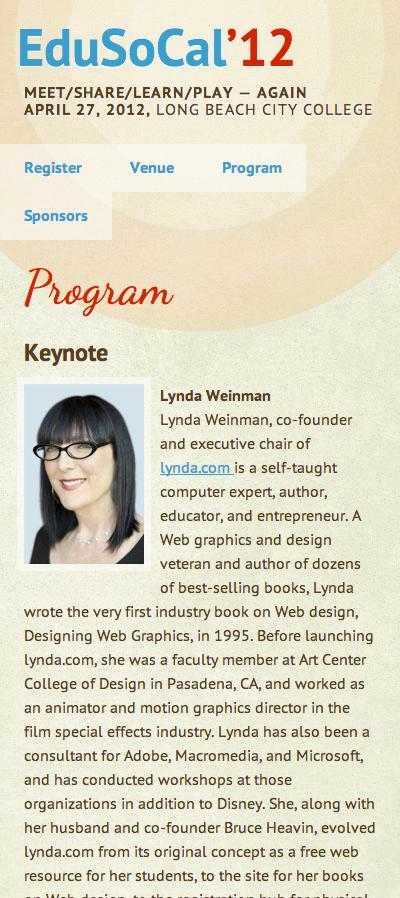 conference higher education web site lynda.com Education