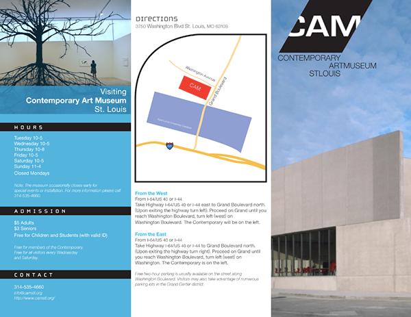 contemporary art museum brochure on behance