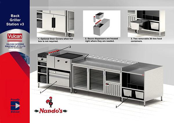 kitchen equipment and layout design on behance