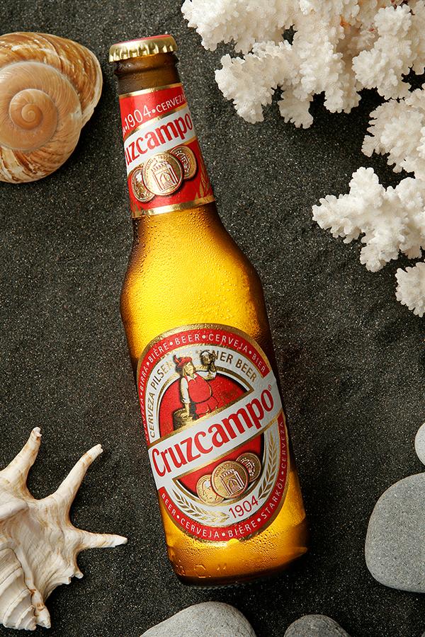 cerveza beer cruzcampo Product Photography