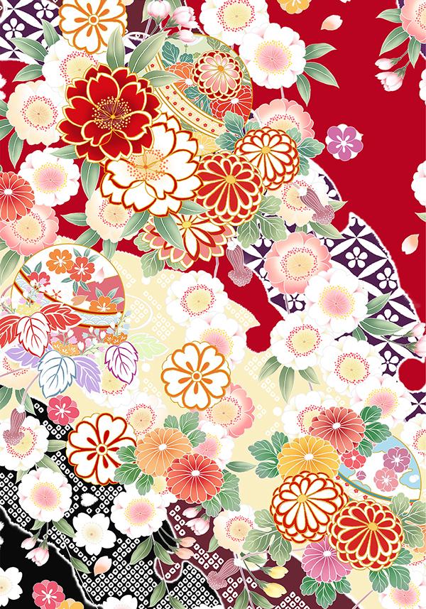 Flower pattern of Japan on Behance
