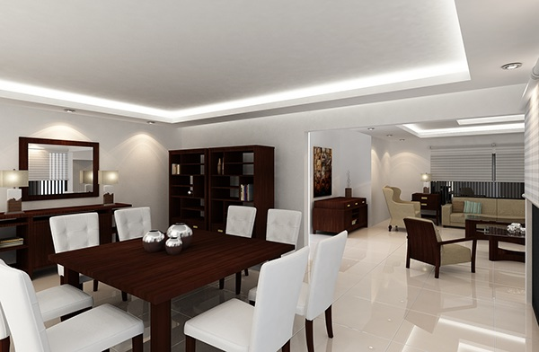 Dise O Interior Sala Comedor On Behance