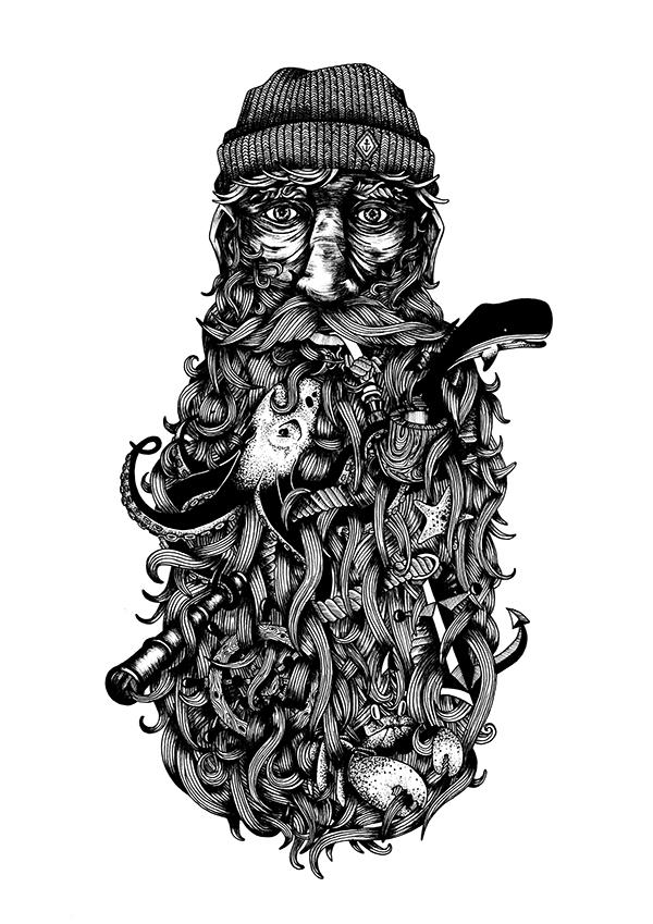 Sailor Beard Drawing of a Bearded Sailor