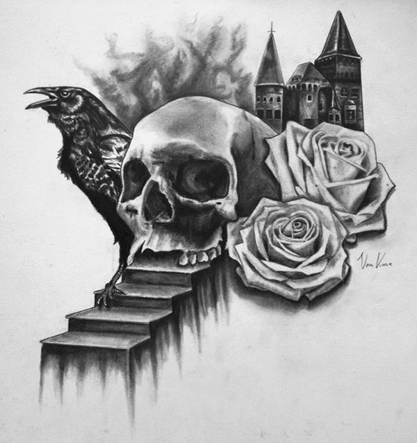 Black and grey Drawings with pencil on Behance