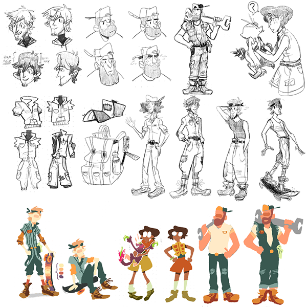 Professional Character Design Portfolio : Character design pre production portfolio on wacom gallery