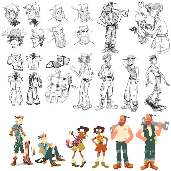 Professional Character Design Portfolio : Character design pre production portfolio on mica portfolios