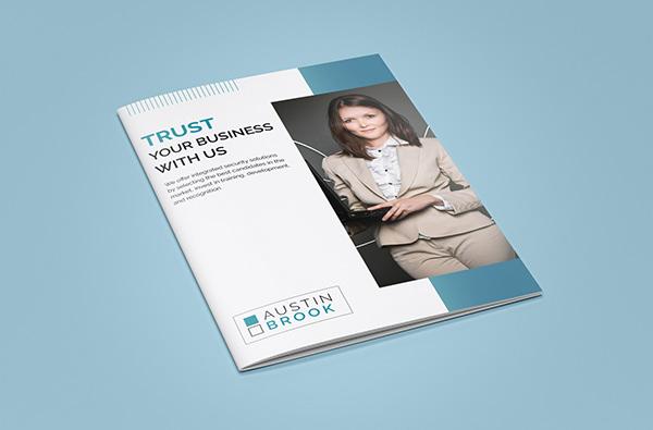 corporate bi fold brochure design on student show