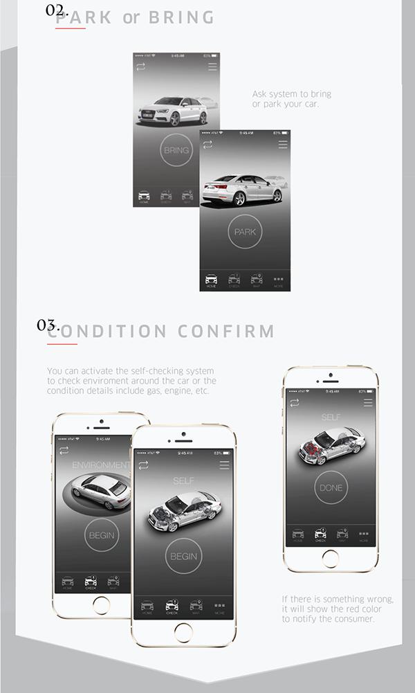 Selfparking Application Design For Audi On Wacom Gallery - Audi self parking