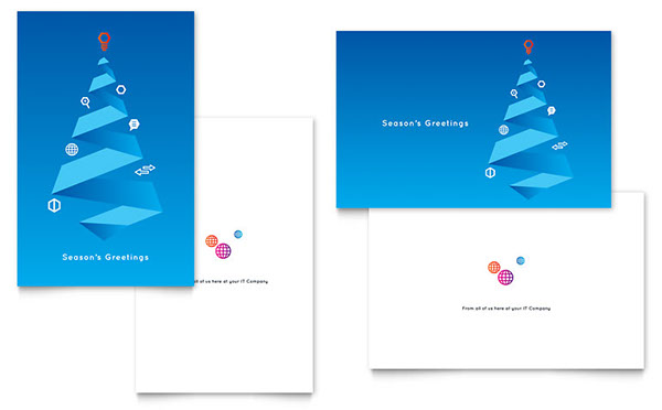 Free Business Christmas Card Templates