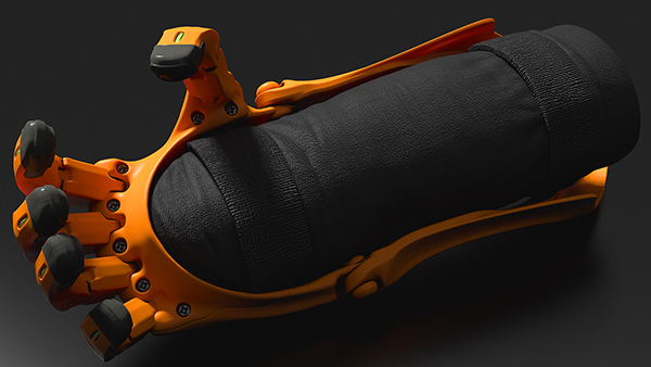 Prosthesis design product concept future visualization 3D modo rendering