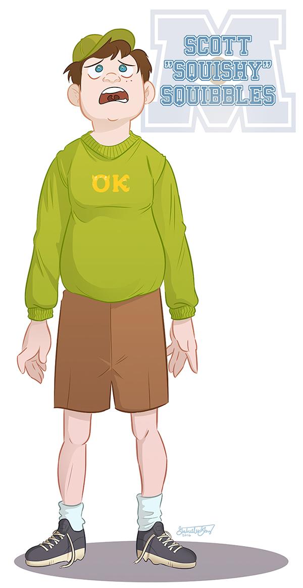 If Monsters University Characters Were Human On Sva Portfolios