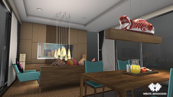 Modern zen style interior design project on behance for Zen interior design