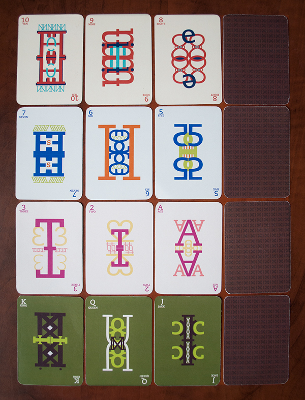 Typographic Playing Cards on Student Show