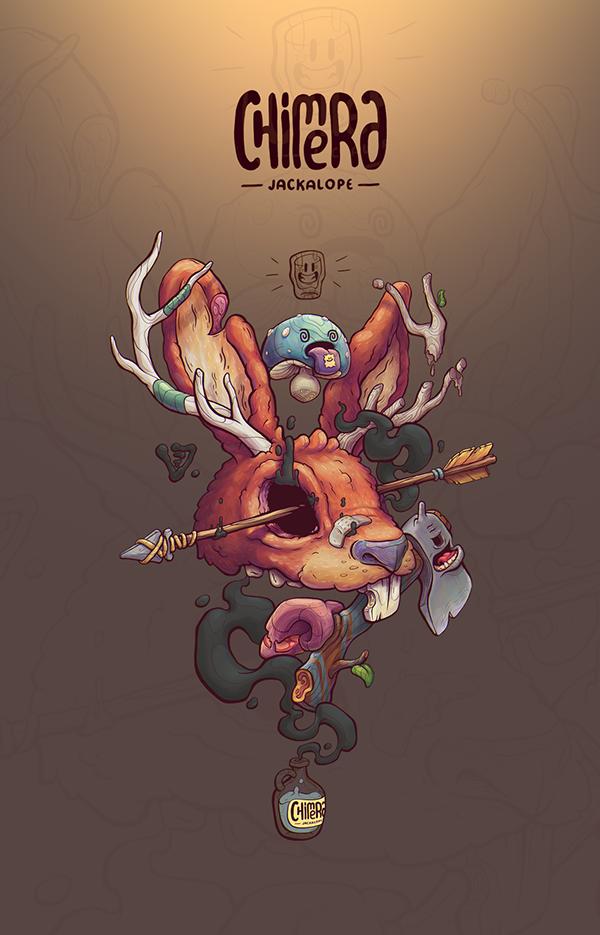 2d Character Design In Illustrator : Jackalope chimera free brush illustration t shirt on