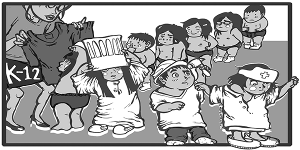 Editorial Cartoon On The Philippines K 12 Shift On Behance