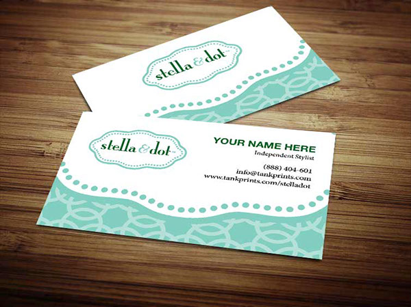 Stella and dot business cards on behance thank you colourmoves