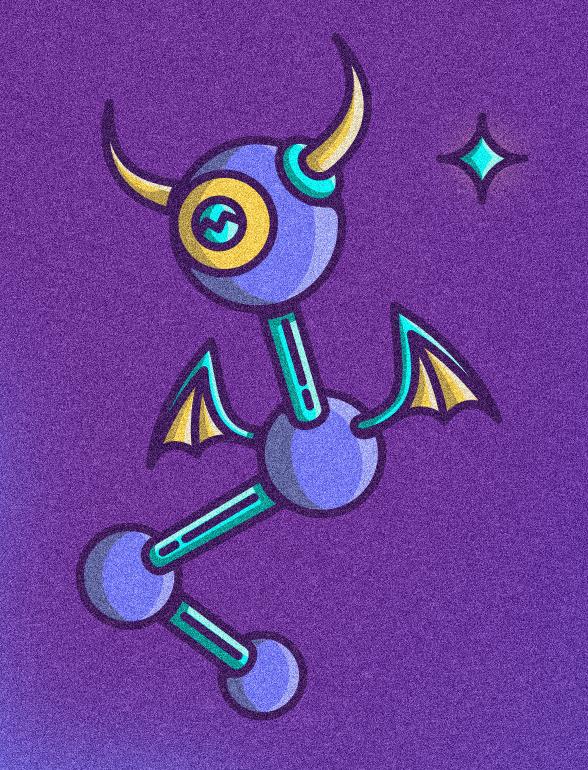 unidentified flying object Fly Space  Bats devil woman mask split brain ear glow unidentified Flying UFO colorful