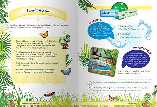 Karma Kids Travel Is A Guide Activity Books Just For Chameleon Their And Shares Fun Facts Sets Cool Challenges Them