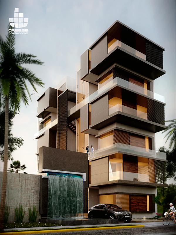 Grau on behance for Departamentos minimalistas fachadas