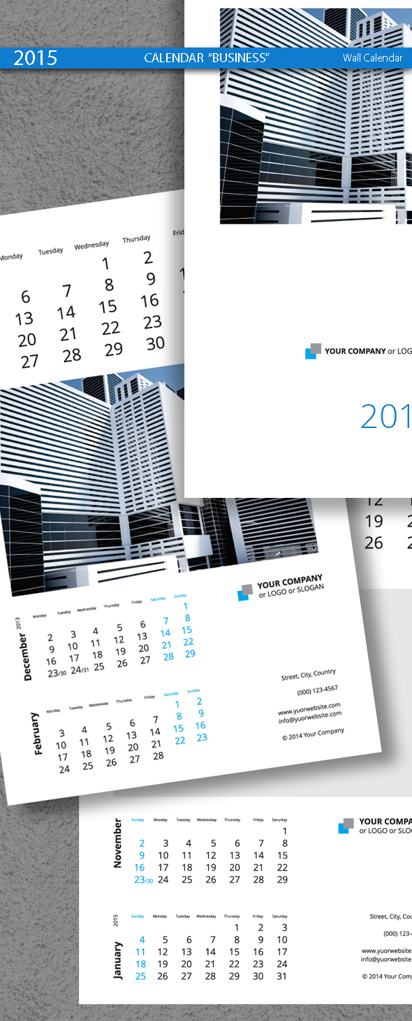 Business calendar template 2015 2014 on behance fbccfo Image collections
