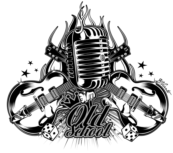 Old School Microphone Drawing Images amp Pictures Becuo