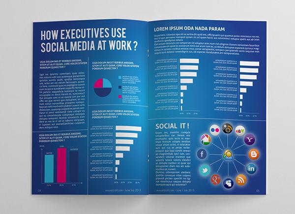 Social Media Magazine Template on Behance