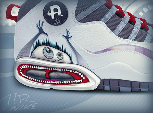 Nike basket-ball collector limited editions most wanted air design conceptual Custom shoes logo rarty quaint novel Original