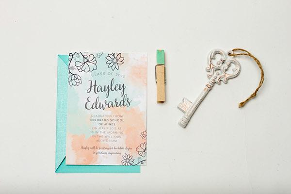 floral graduation announcement card on wacom gallery