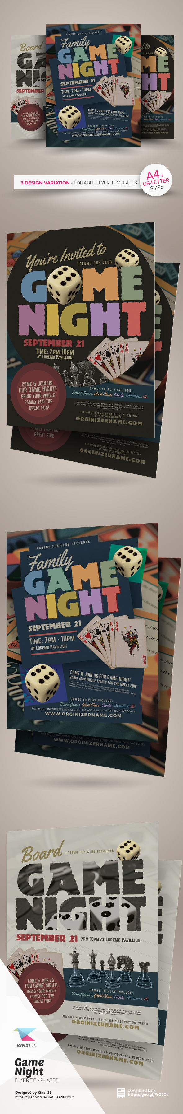 Game Night Flyer Templates Are Fully Editable Design Created For Sale On Graphic River More Info Of The And How To Get Sourcefile