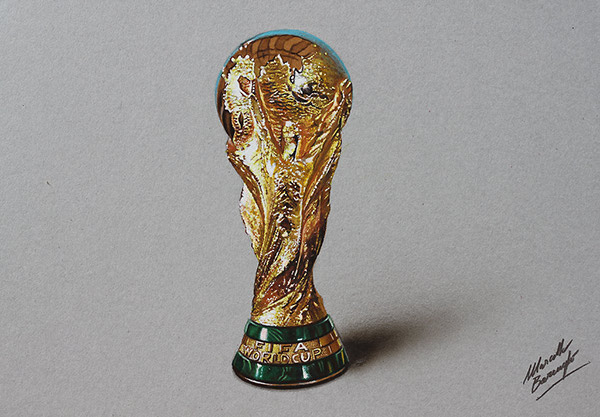 Fifa World Cup Trophy Drawing On Behance