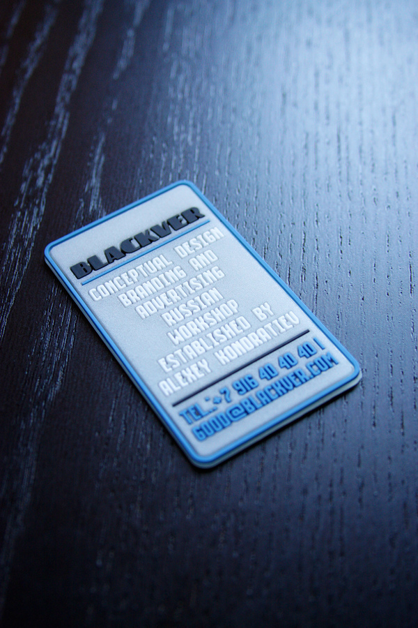 PVC self promo business cards on Behance
