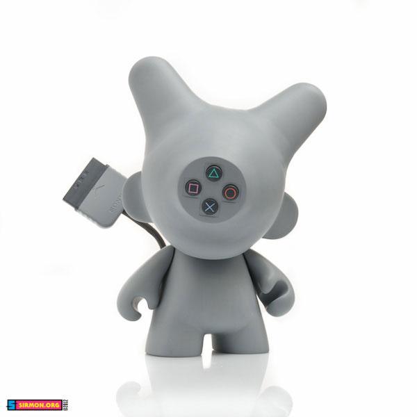 playstation ps1 Sony Munny Kidrobot video game Custom vinyl toy