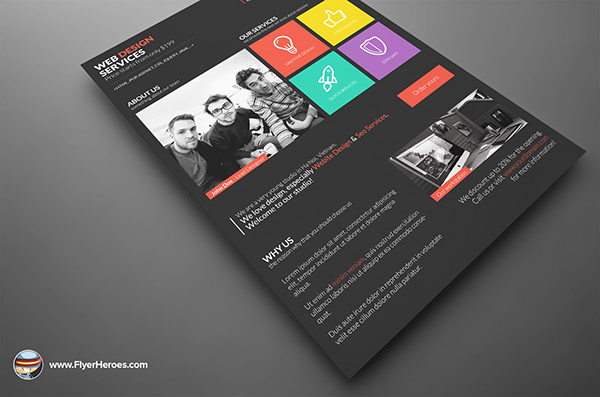 Metro Style Web Design Flyer Template on Behance