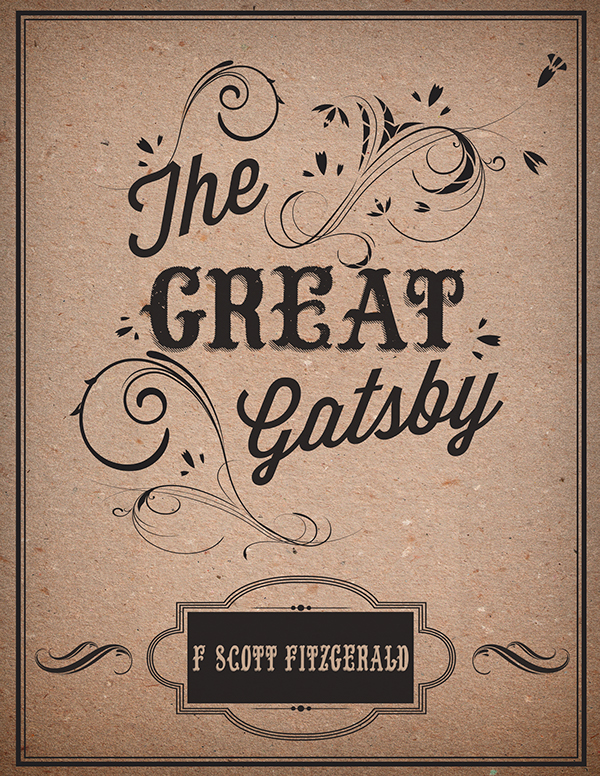 Great Gatsby Book Cover Ideas : Quot the great gatsby book cover back and spine on behance
