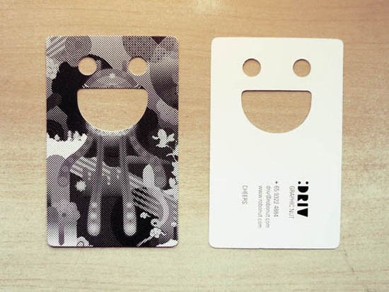 smiley face business cards