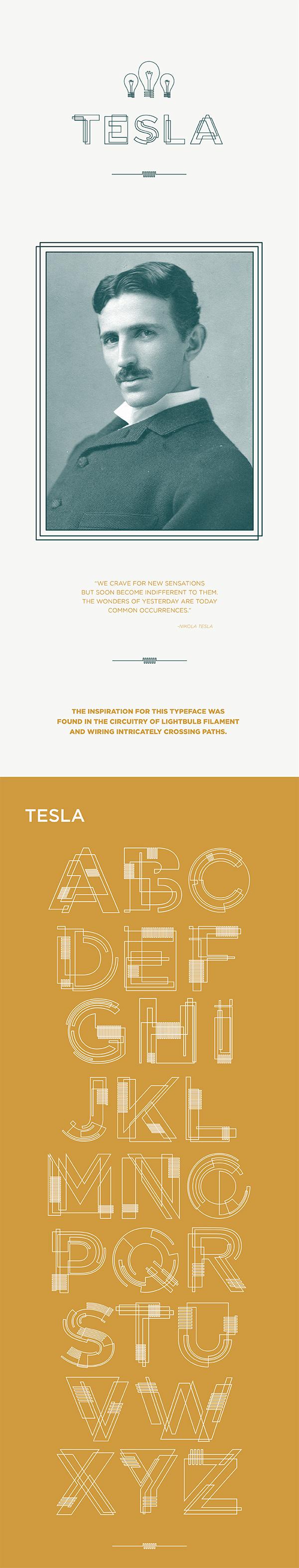KU university of kansas tesla nikola electricity free font Typeface new line intricate Free font download #Colossal #madethis