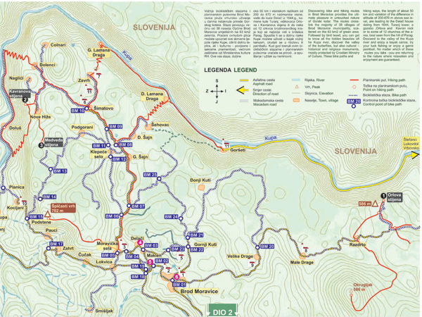 map hiking trails Bike Routes