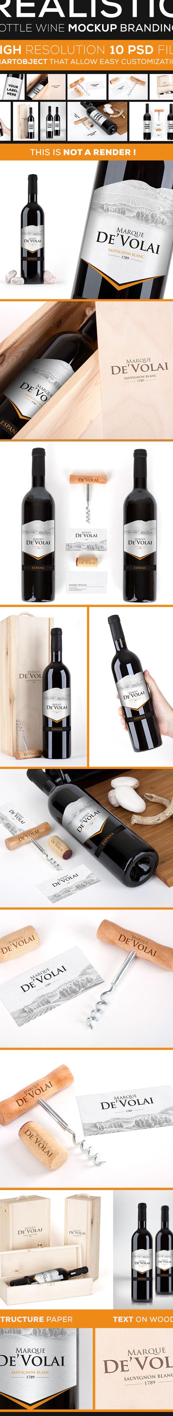 wine brand Label grapes Mockup mock up realistic psd file
