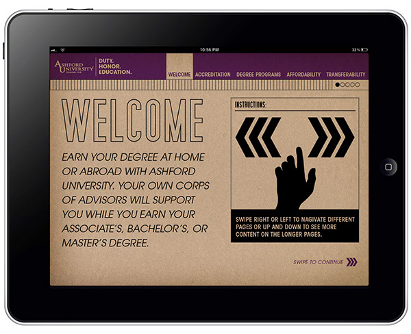 Military Ipad App for Ashford University on Behance