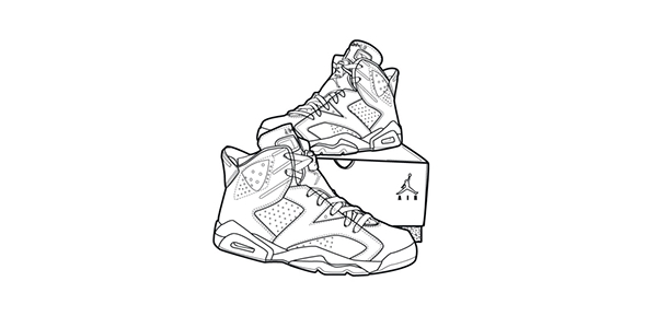 Captivating Drawings Nike Air Jordan Retro 6 .