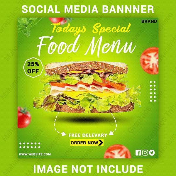 Social Media Food Banner