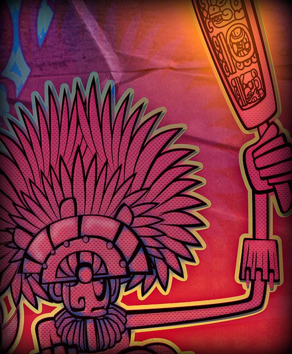 inca illucolor illustrer Amérique du Sud donner une fessée Conception caractère dessiner histoire punition incandescent