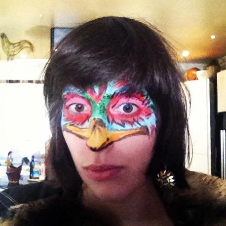 Face Paint Bird Mask