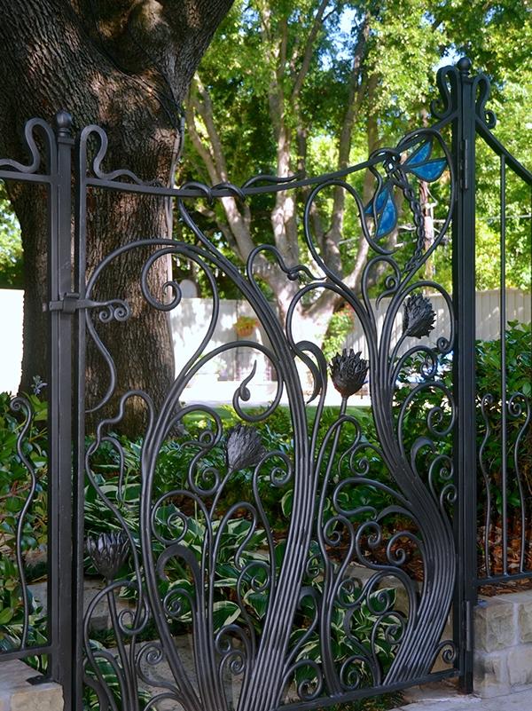 Wrought Iron: Art Nouveau inspired garden enclosure on Behance