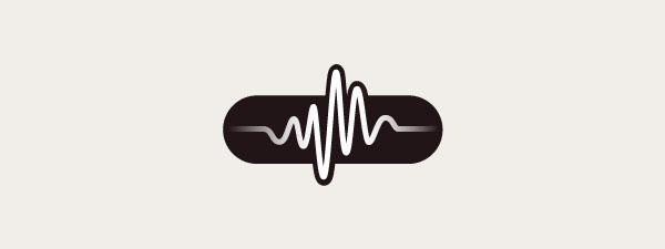 sonic vitamin pill logo design identity Icon brainwave Audio dark yellow Indigo