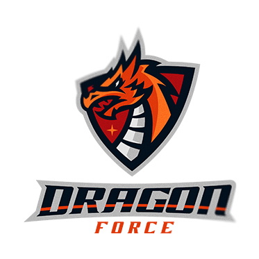 esport logo dragon force on behance