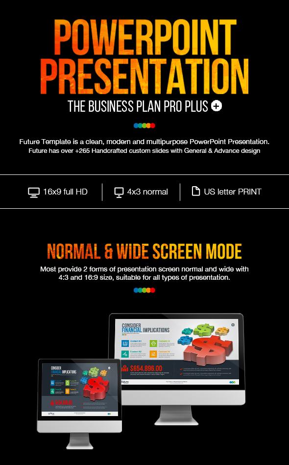business plan powerpoint presentation template on behance