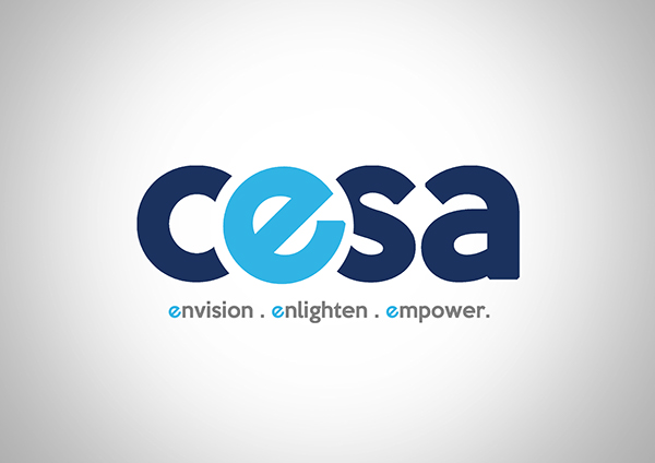 computer engineering students association logo design on