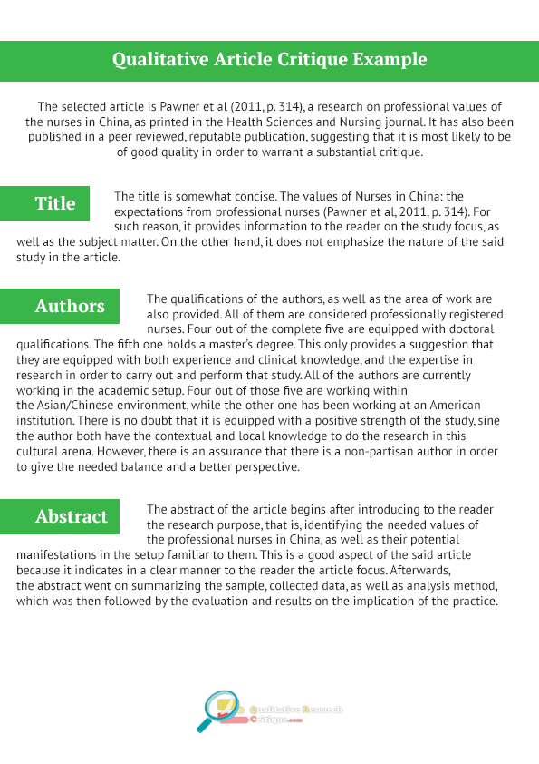 how to write a critique essay example